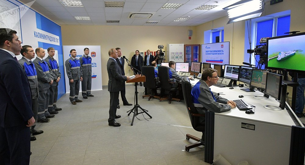 普京启动加里宁格勒海上天然气接收站及气化平台