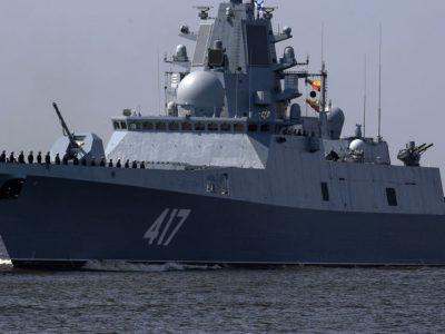 """俄罗斯""""戈尔什科夫海军上将""""号护卫舰进入南海"""