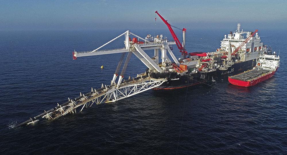 """""""北溪-2″号天然气管道项目铺设工作进度达到60%"""