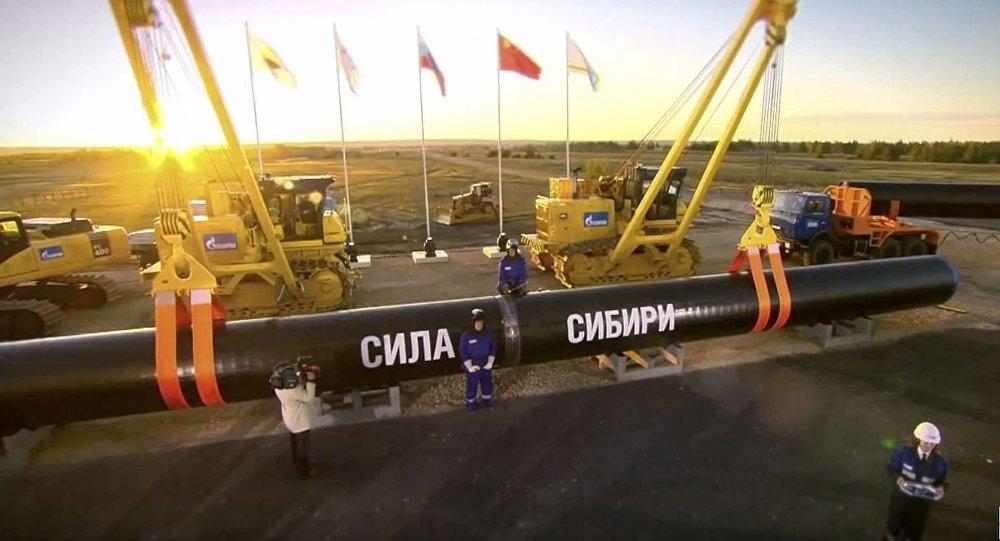 """俄副总理:俄将于12月1日起开始通过""""西伯利亚力量""""管线对华输送天然气"""