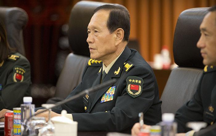 中国防长魏凤和会见俄安全总局第一副总局长兼边防局长库里绍夫
